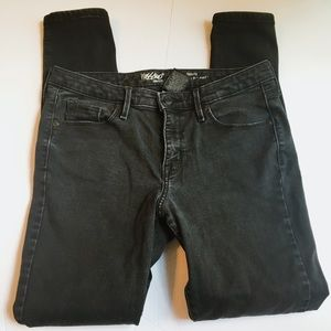 Mossimo mid rise power stretch faded black skinny